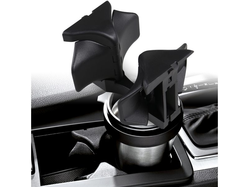 BLACK CUP HOLDER DIVIDER CENTER CENTRE CONSOLE INSERT MERCEDES C-CLASS W204