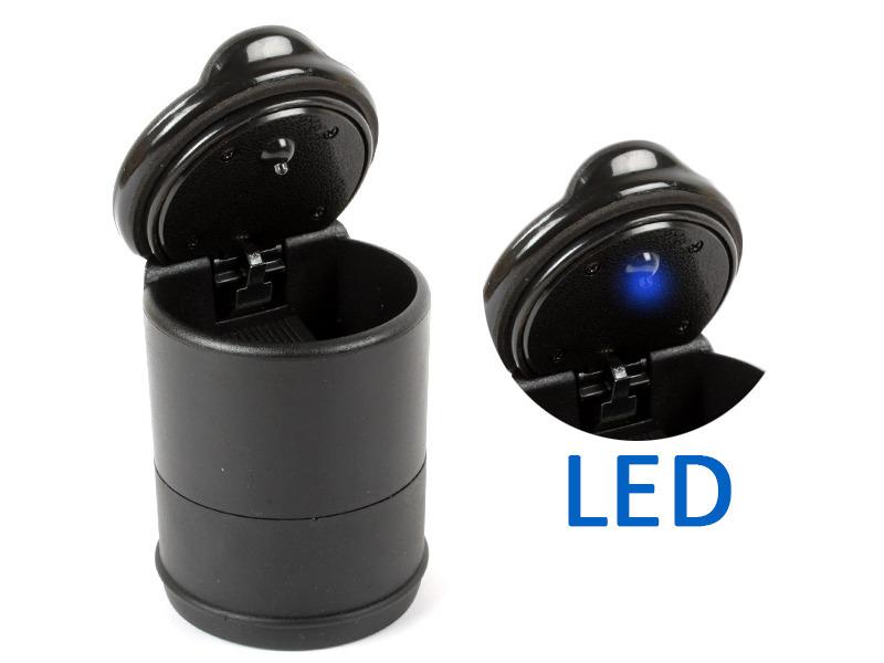 Portable Practical Car Auto LED Light Cigarette Ashtray Holder Cup Black