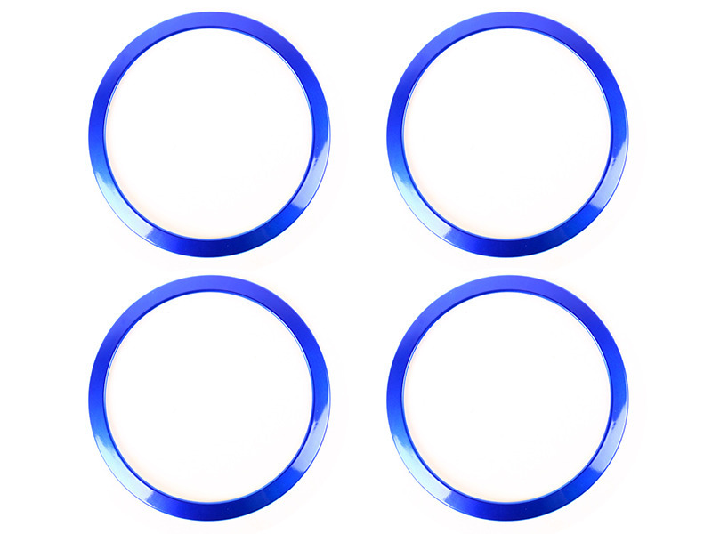 4PCS Interior Speaker Sound Cover Trim Ring BMW 3-SERIES F30 F34 320 328 -Blue