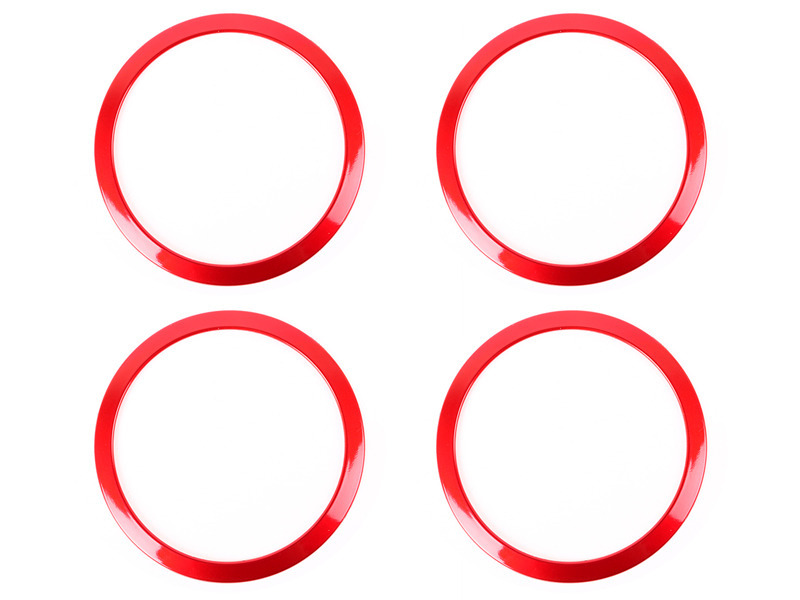 4PCS Interior Speaker Sound Cover Trim Ring BMW 3-SERIES F30 F34 320 328 - RED