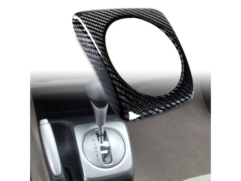 Carbon Fiber A/T Shift Shifter Trim Cover For Honda Civic LHD