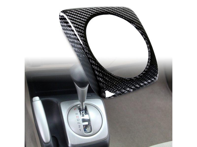 Carbon Fiber A/T Shift Shifter Trim Cover For Honda Civic LHD