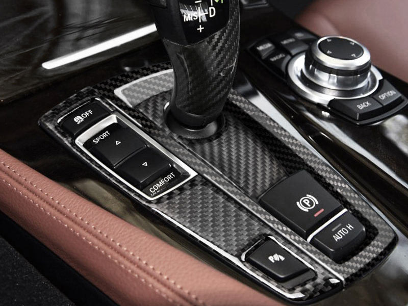 * Real Carbon Fiber Shift Shifter Trim Cover For BMW F10 ...