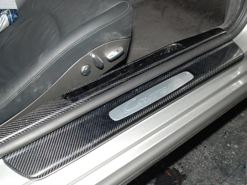 Carbon Fiber Door Side Sill Cover For Porsche Carrera S 4S Turbo 997 911 LHD
