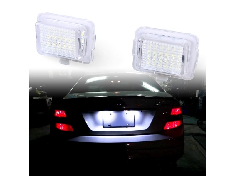LED License Plate Lamps Mercedes Benz W204 W212 W207 E-Coupe W221 W216
