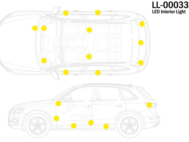 For Audi A3 S4 A4 S4 RS4 A5 S5 A6 S6 A8 Q7 TT Courtesy Door Luggage LED LIGHT