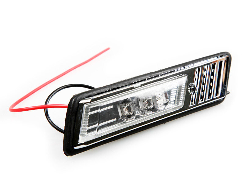 LED Side Marker Repeater Light Chrome For BMW E30 M3 E32 E34 E36 1992-1996