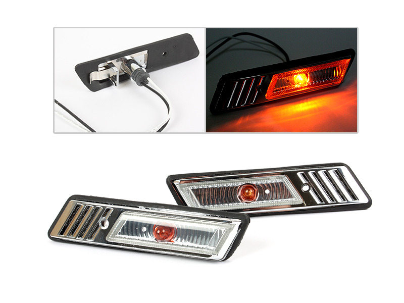 Bulb Side Marker Side Repeater Lights Lamps Clear For BMW E36 1991-1996