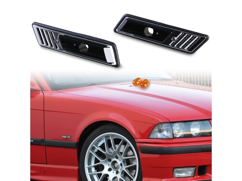 Bulb Side Marker Side Repeater Lights Lamps Smoke For BMW E36 1991-1996