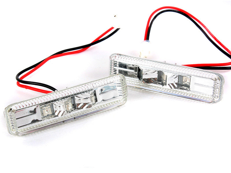 BMW 97-03 E39 CHROME CLEAR LED SIDE MARKER REPEATER INDICATOR M5
