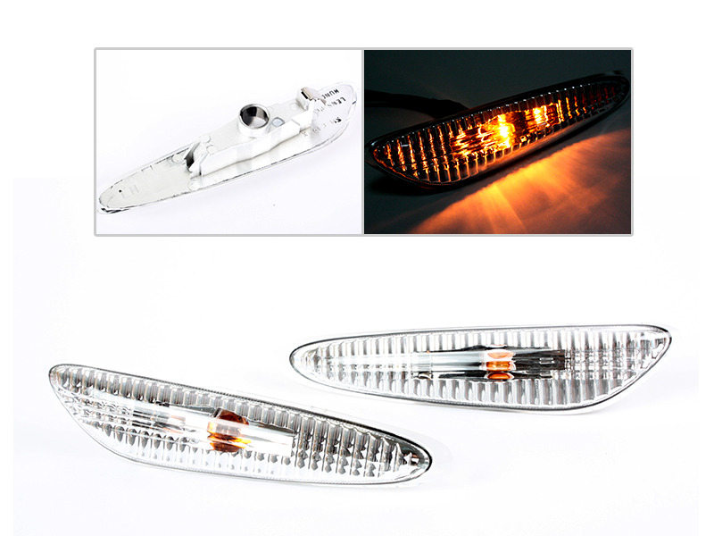 Side Marker Repeater Lights Lamps M5 Clear For BMW E39 Sedan 5 Series