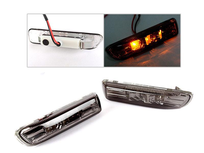 Smoke LED Side Marker Repeater Indicator Light For BMW E46 1998-2001 Sedan Coupe