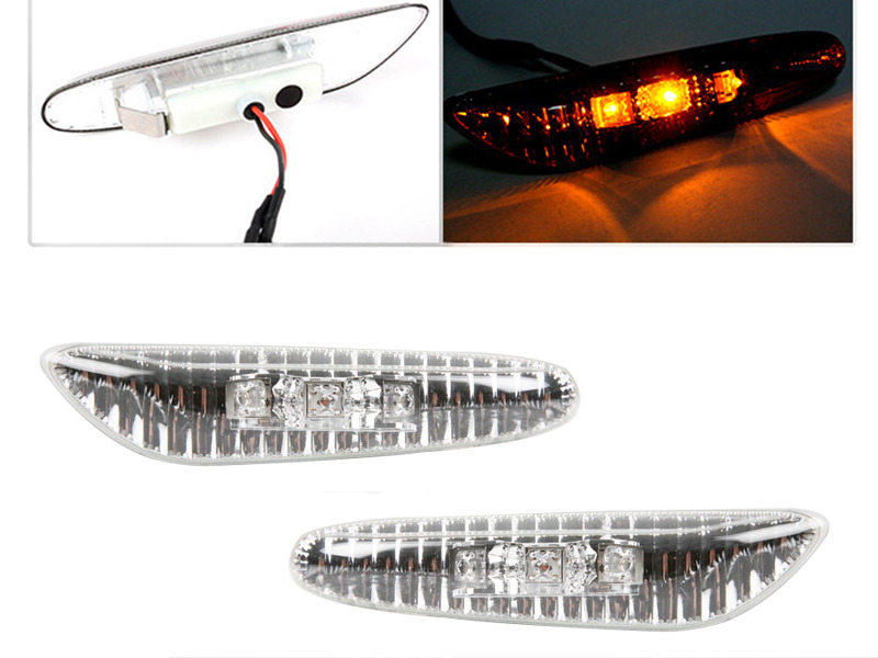 BMW E81 E87 E82 E88 E90 E91 E92 E93 CLEAR LED SIDE MARKER REPEATER