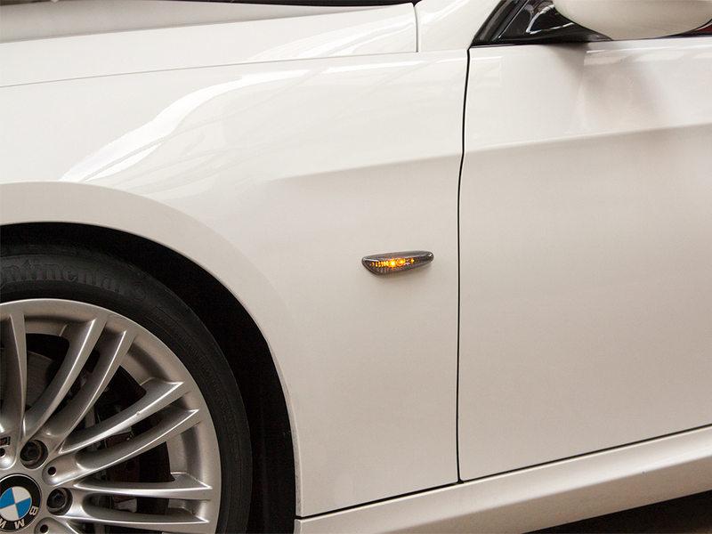 Smoke LED Side Marker Repeater For BMW E81 E87 E82 E88 E90 E91 E92 E93