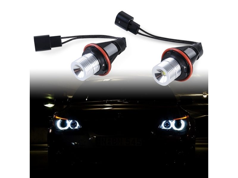 5W LED Angel Eye Halo Light For BMW E39 E60 E63 E64 E65 E66 E83 X3 E53 X5