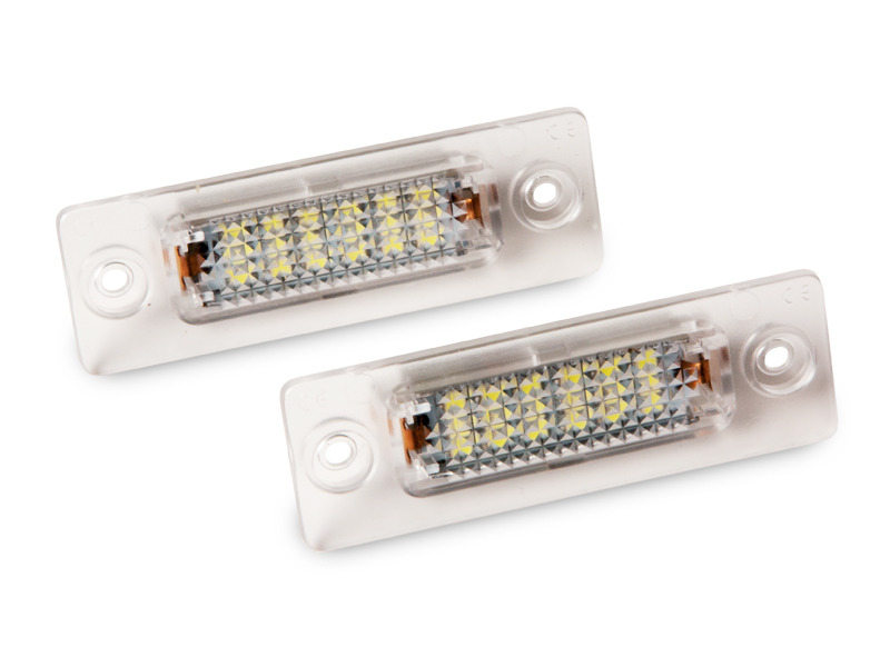LED License Plate Lamp For VW Caddy Touran Jetta Passat Golf Plus