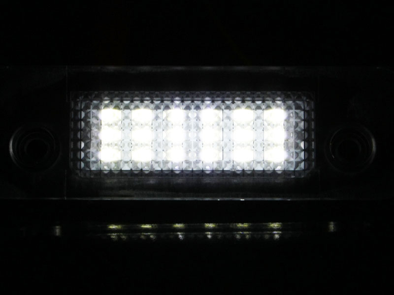 18 LED license Plate Lamp Ford Fiesta Fusion Mondeo Error Free