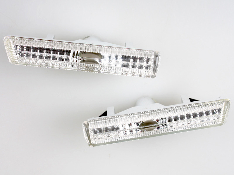 Clear Side Marker Repeater Lights Lamps For BMW E38 1995-2001 7 Series Sedan