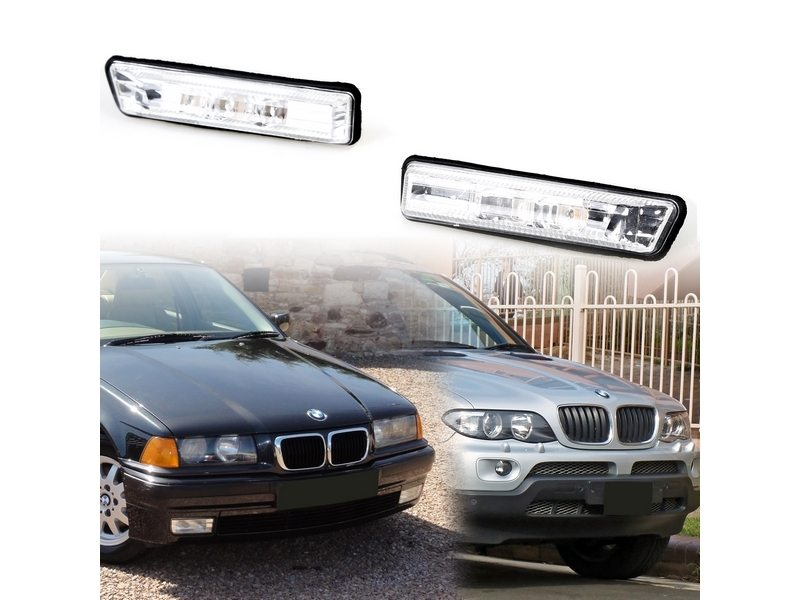 BMW E53 X5 E36 Sedan Coupe Side Marker Repeater LED Lights Error Free- CLEAR