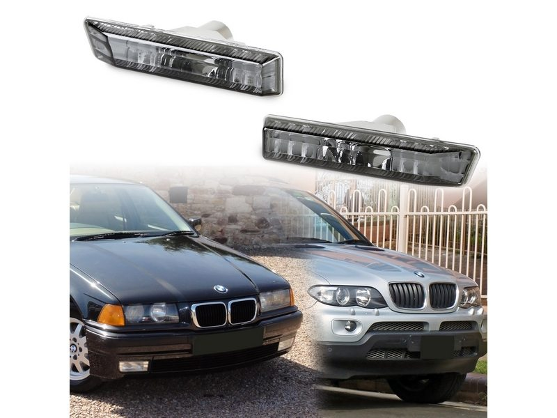 BMW E53 X5 E36 Sedan Coupe Side Marker Repeater Lights Lamps Error Free SMOKE