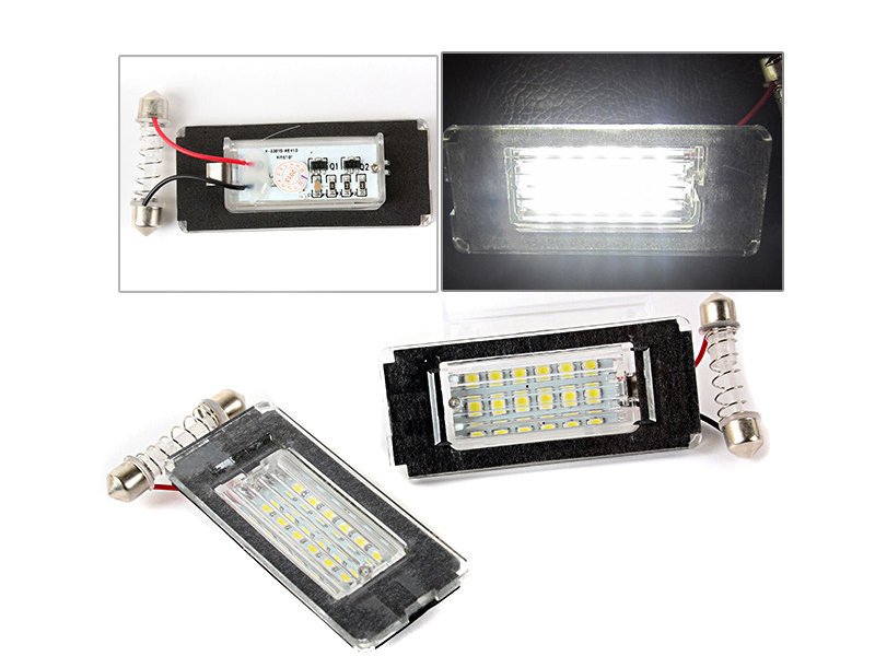 LED LICENSE PLATE LIGHT FOR MINI COOPER R56 2 PCS WHITE 6000K PLUG & PLAY