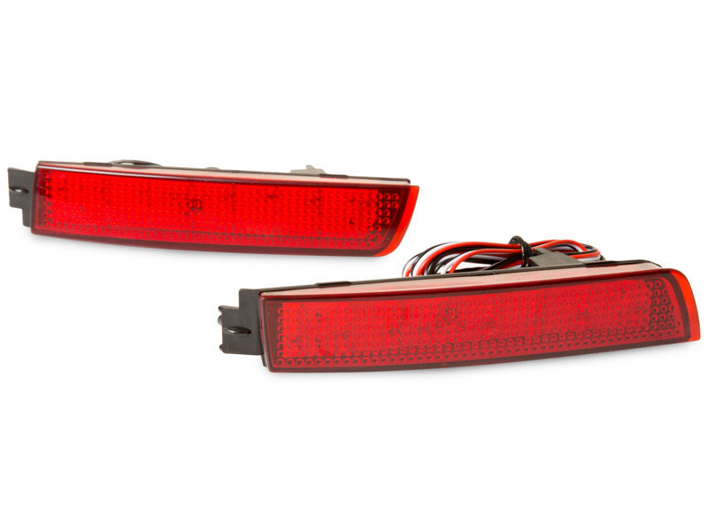 Red Lens Bumper Reflector LED Brake Light Nissan Juke Sentra Infiniti FX35