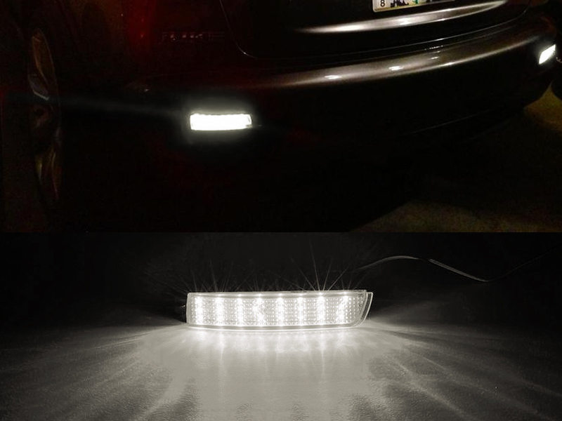 Clear Lens Bumper Reflector LED Brake Light For Sentra Infiniti FX35 Juke Quest