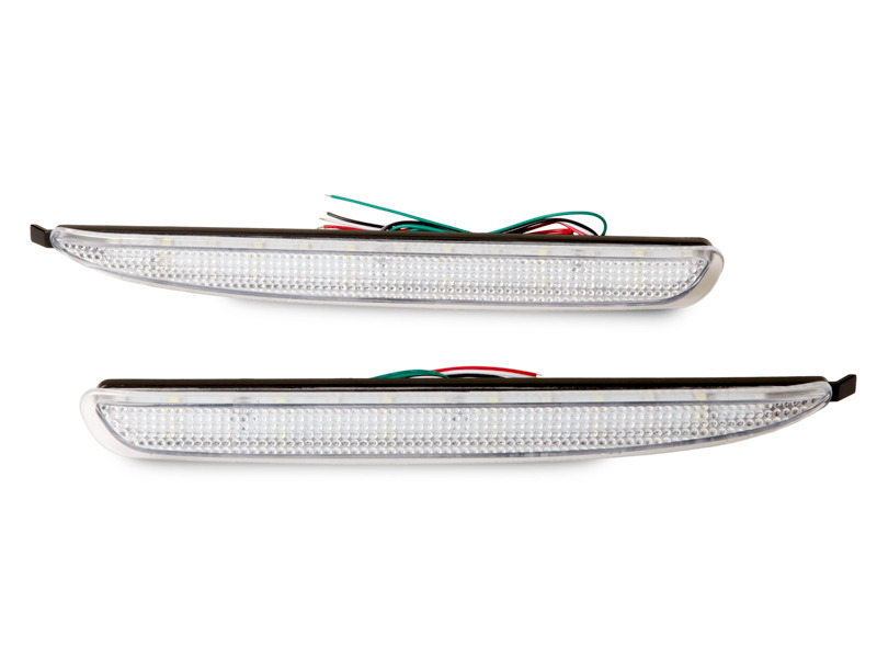 Clear Lens Rear Bumper Reflector LED Tail Brake Light For Mazda 6 2003-2008
