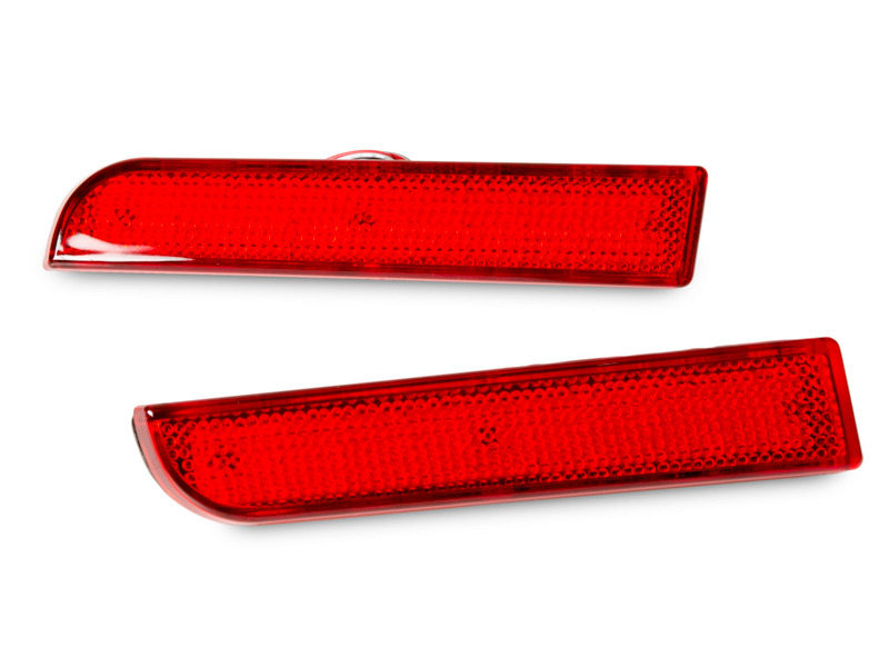 Red Lens Bumper Reflector LED Tail Brake Light Mitsubishi Lancer Evo Outlander