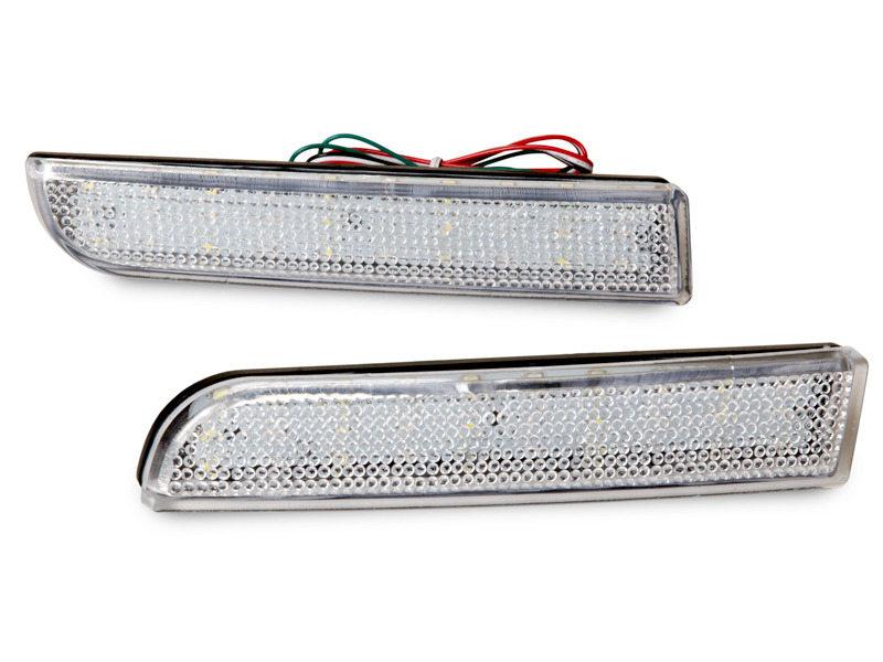 Clear Lens Bumper Reflector LED Brake Light Mitsubishi Lancer Evo X Outlander