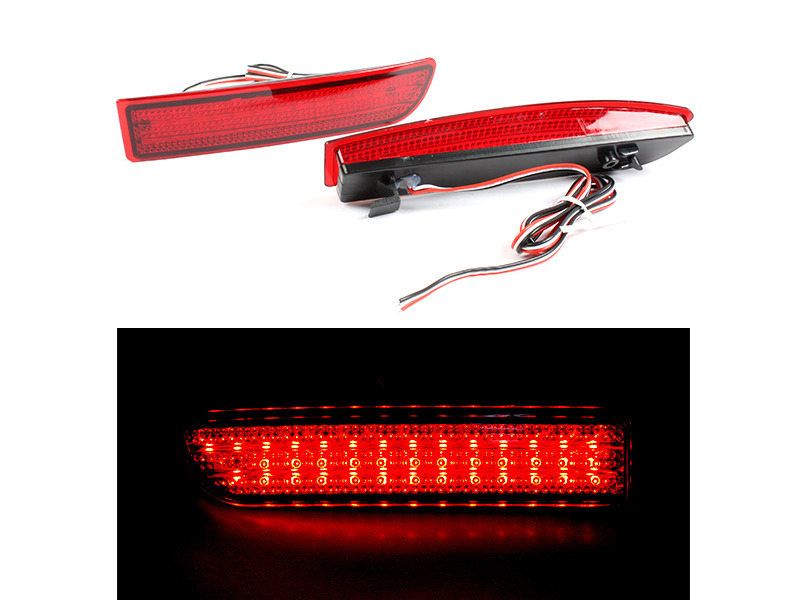 Toyota Previa RAV4 Alphard Scion xD Red Lens LED Rear Bumper Light Reflector