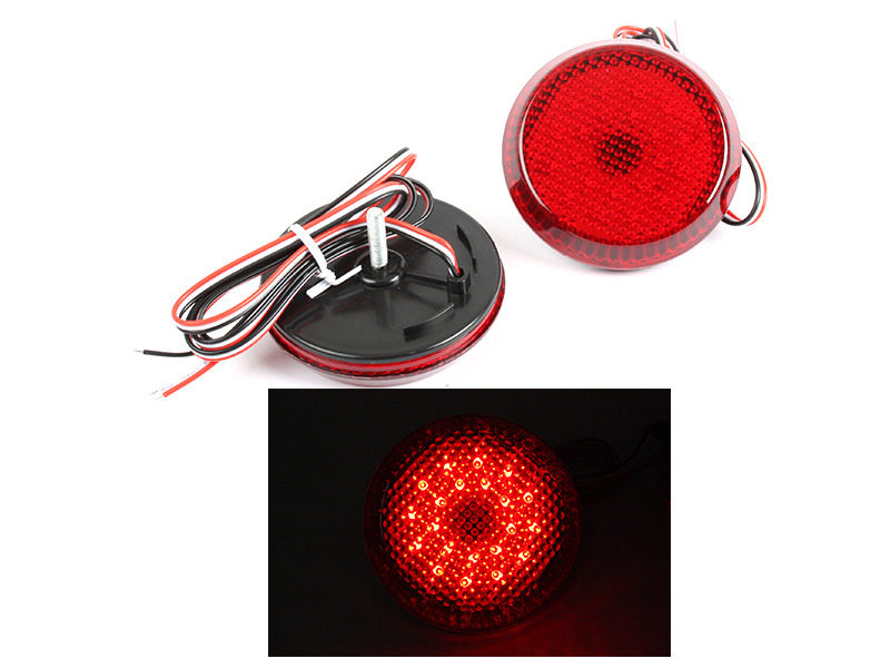 Toyota Sienna SE Corolla Red Lens LED Rear Bumper Reflector Tail Brake Light
