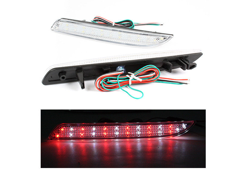 Honda CR-V CR-Z ZF1 Acura TSX Clear Lens LED Rear Bumper Light Reflector