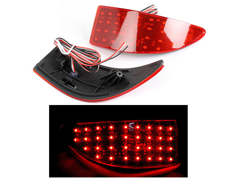 Lexus IS250 350 Red Lens LED Rear Bumper Light Reflector Tail Brake Stop Light
