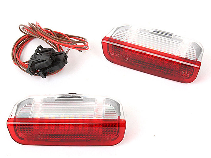18 LED White+Red Courtesy Door Light VW Golf Jetta Passat EOS GTI GLI Touareg