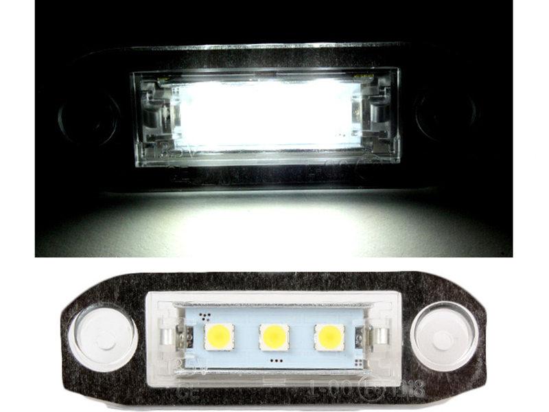 LED License Plate Light Lamps Volvo C30 S40 S60 CX60 C70