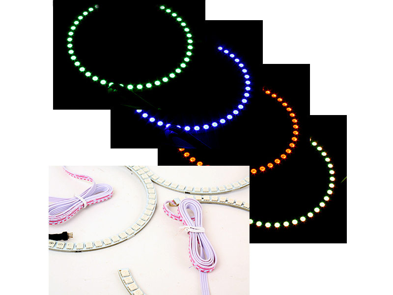16 Color Non Projector RGB Remote LED Angel Eye Kit BMW E46