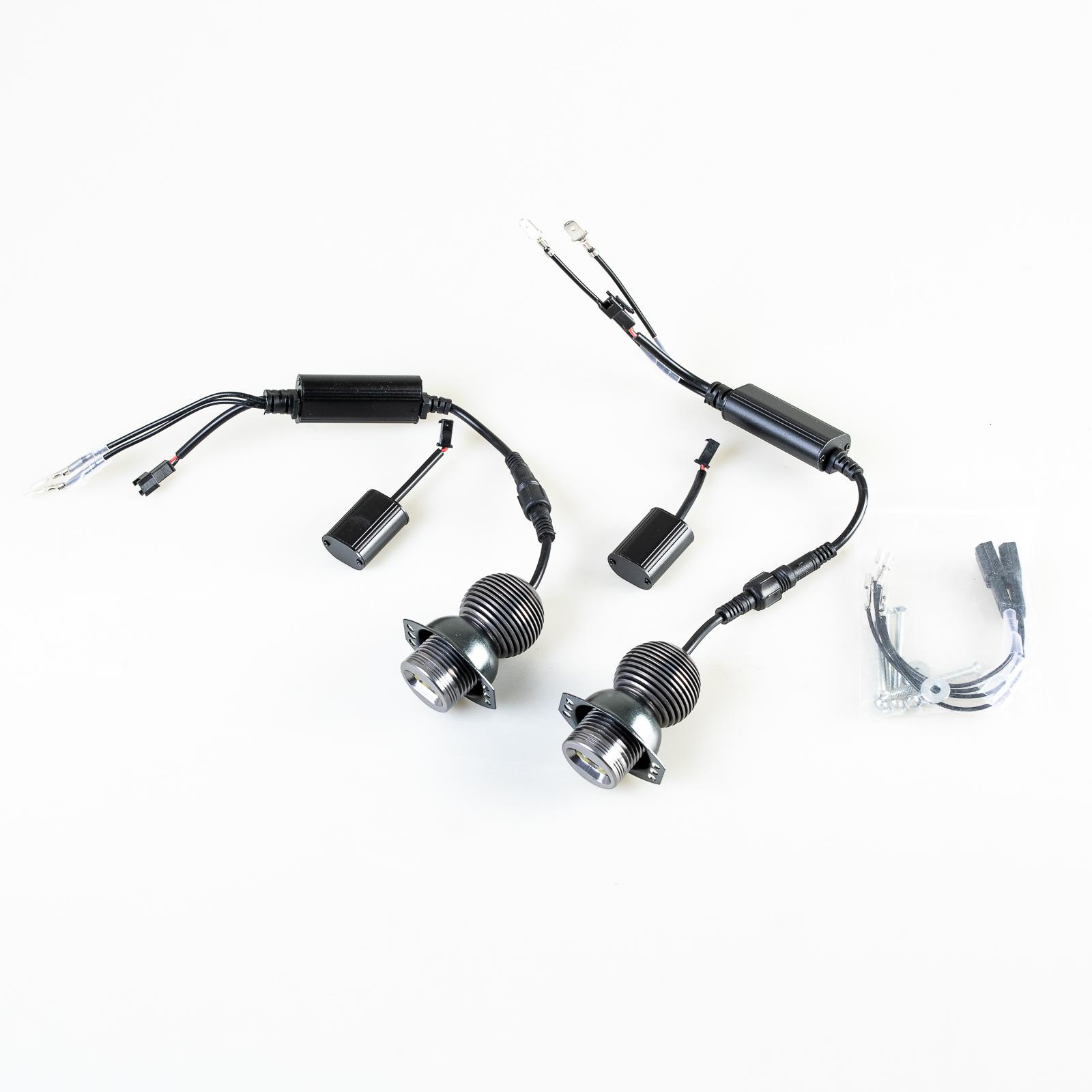 LED Angel Eye Halo Ring Light Bulb Kit 10W White For BMW E90 E91 Prefacelift