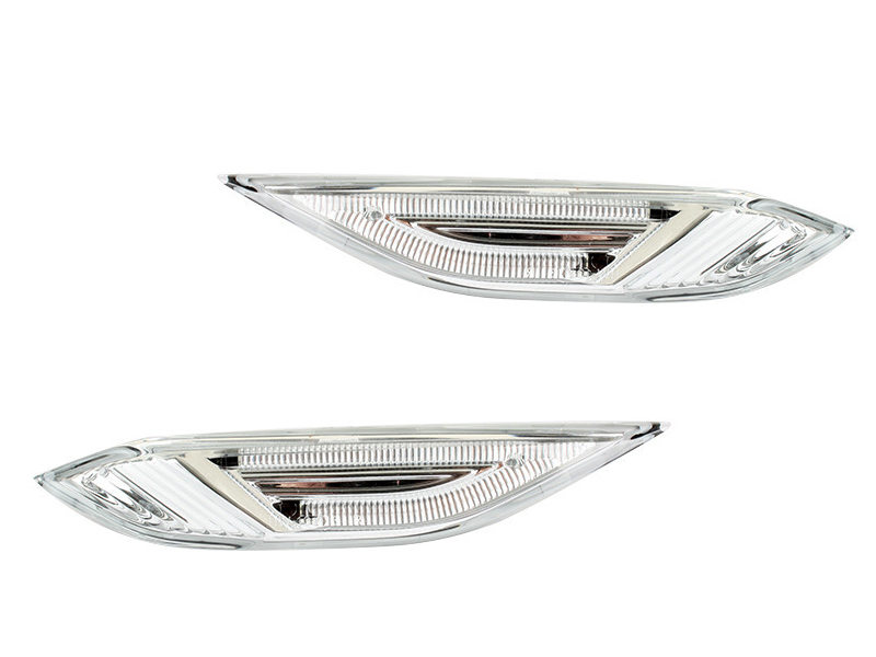 Clear Lens White LED Light Indicator Side Marker For Porsche 958 Cayenne S GTS