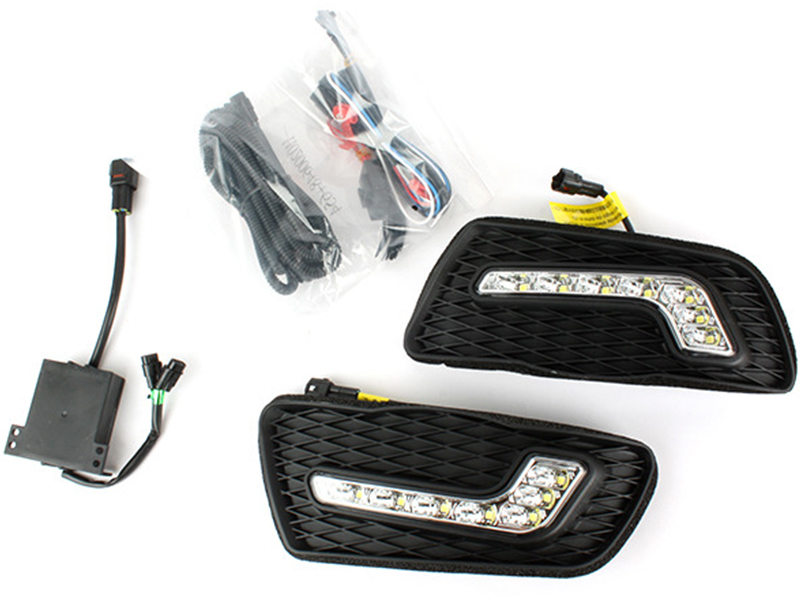 LED Fog Lamp Cover Drl Daytime Running Light Wire Kit For Mercedes C-Class W204