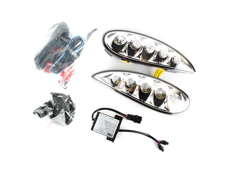 led fog l cover drl daytime running light for mercedes s class w220 facelift ebay