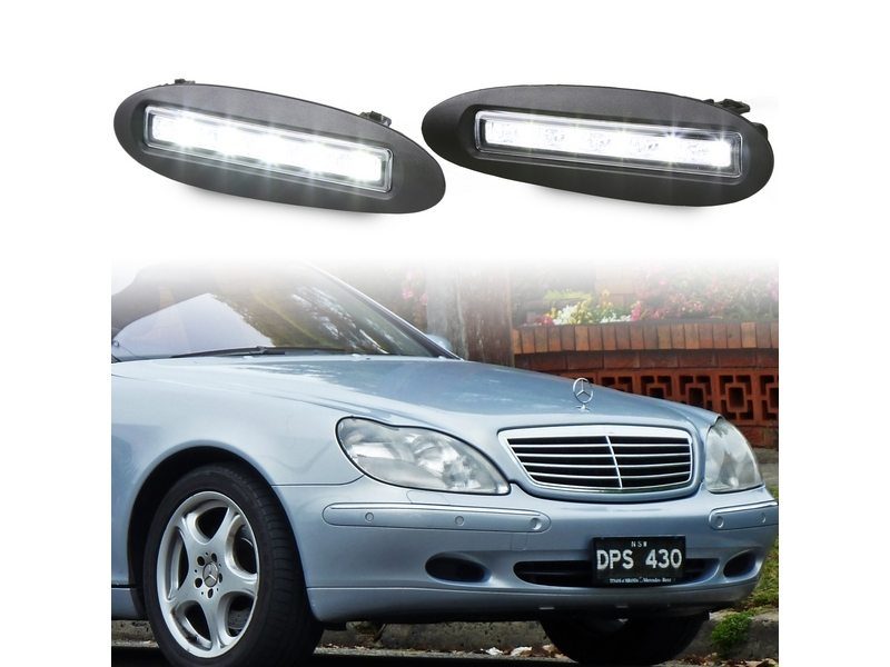 LED Fog Lamp Cover DRL Daytime Running Light For Mercedes S-Class W220