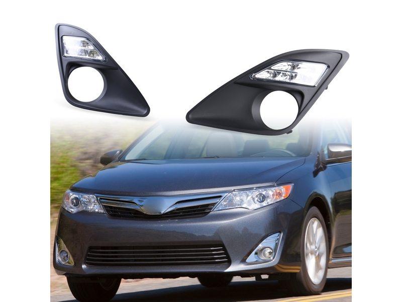 LED Fog Lamp Cover DRL Daytime Running Light For Toyota Camry US Model 12-14