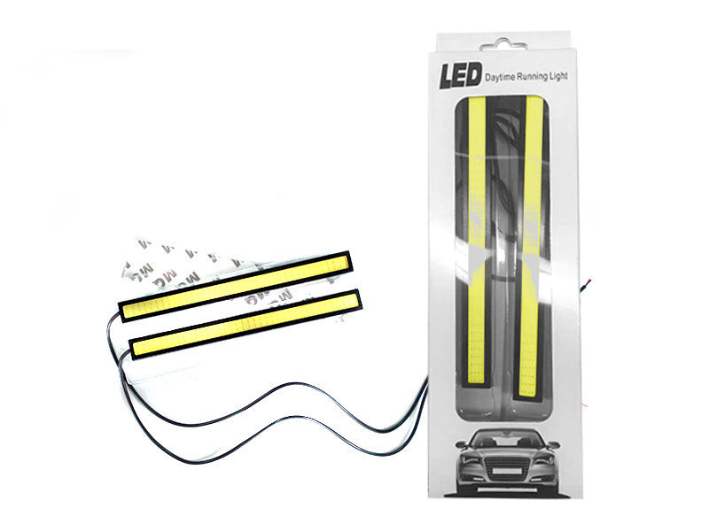 2pcs Super Bright White COB LED Light Car DRL Fog Driving Lamp Waterproof DC 12V