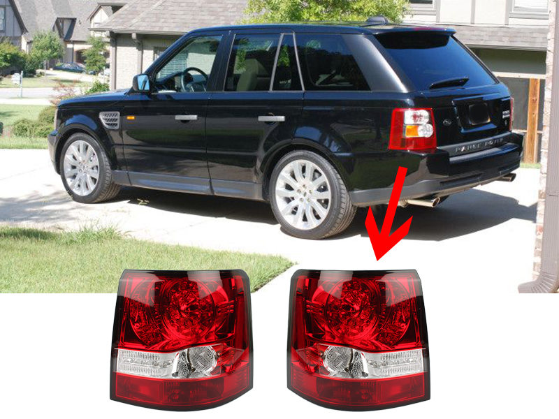LED Tail Light Rear Lamp Black Housing For Land Range Rover Sport L320 2006-2009