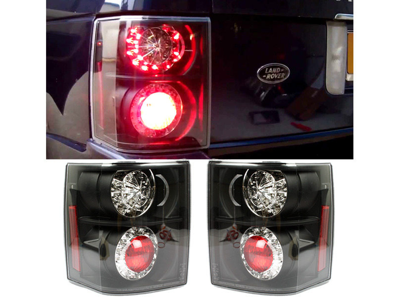 LED Tail Light Rear Lamp Black Housing For Land Range Rover L322 02-09