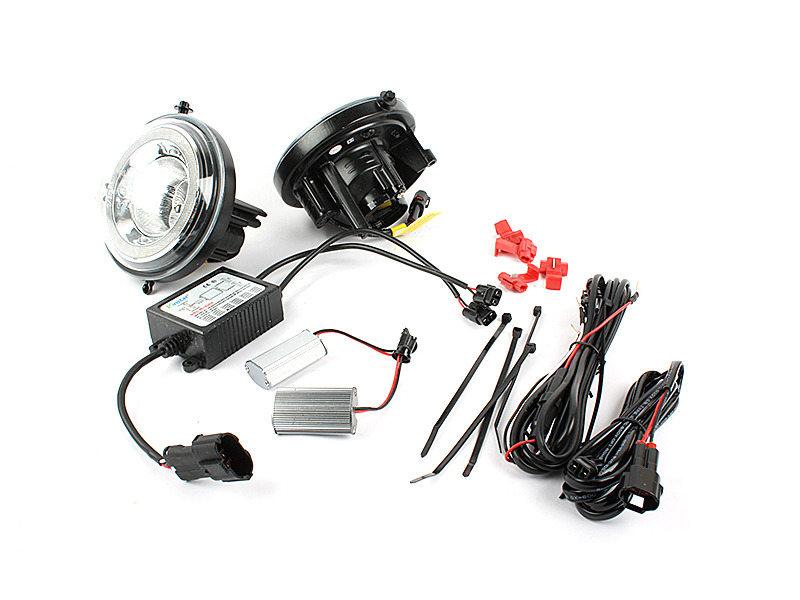 LED DRL Daytime Running Light Halo Fog Lamp Kit For Mini Cooper R55 R56 R58 R60