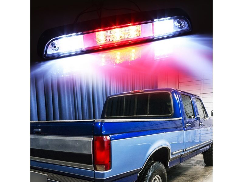 LED Rear Stop 3rd Brake Light For F-150 F-250 F-350 Bronco Clear Lens 92-96