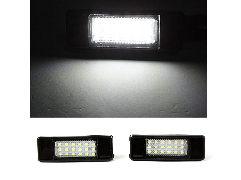 6000K 18 LED License Plate Light Lamps For Peugeot 207 308 508 Citroen C2 C3 C4