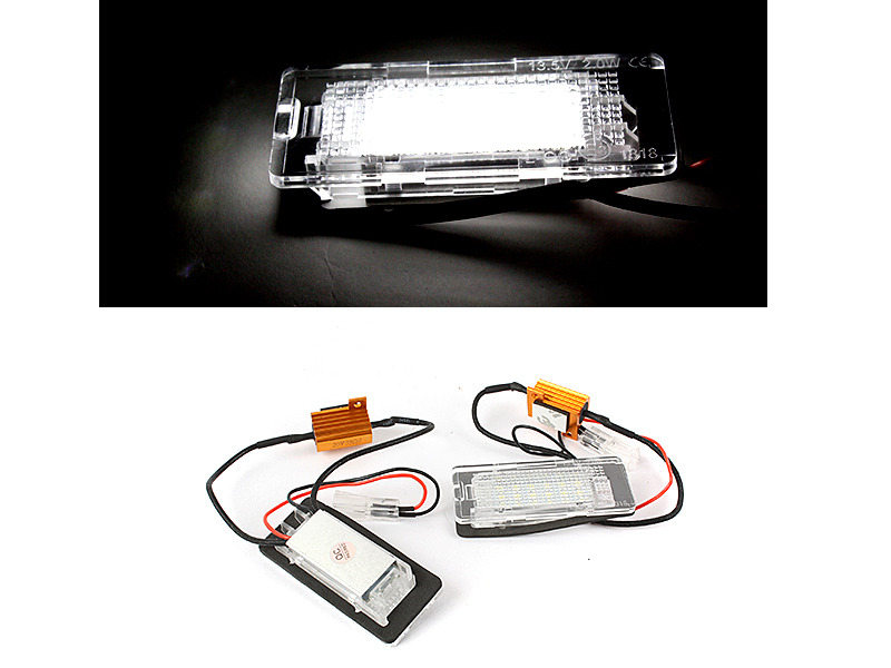 6000K 18 LED License Plate Light Lamps For VW Touareg Passat 3C B6 Jetta